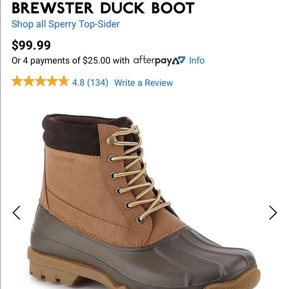 BRAND NEW Sperry Brewster Duck Boot Size 12 Men's
